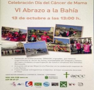 abrazo solidario Castro Urdiales AECC Cantabria en Rosa