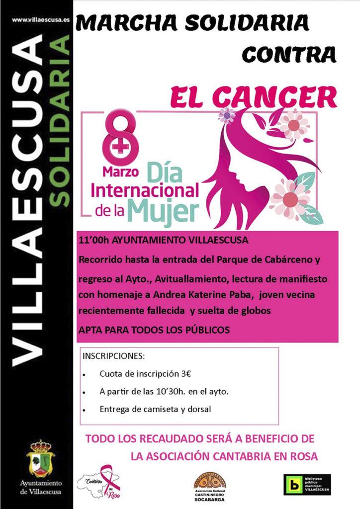marcha solidaria contra el cancer en Villaescusa Cantabria